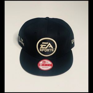 EA Sports Embroidered Logo Flat Bill SnapBack Cap